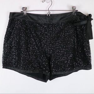 J. Crew Collection sequin shorts with side bow